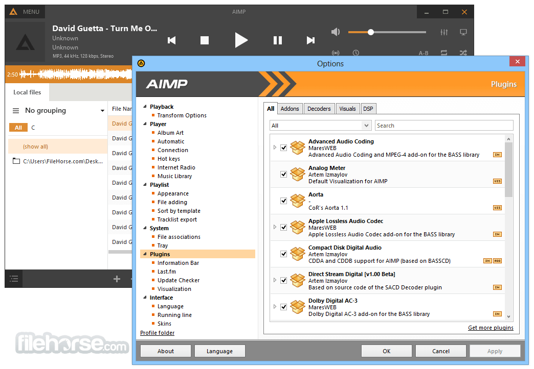 AIMP Portable 4.70 Build 2233 Screenshot 5