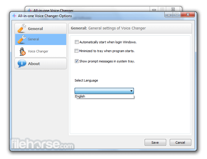 All-In-One Voice Changer 1.5 Screenshot 3