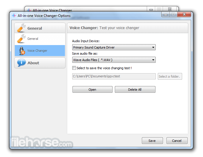 All-In-One Voice Changer 1.5 Screenshot 4