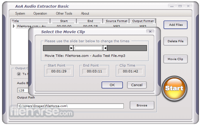 AoA Audio Extractor Basic Free Download - VideoHelp