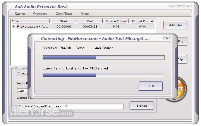 AoA Audio Extractor 2.3.7 Screenshot 3