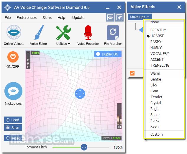 Download av voice changer software diamond free.