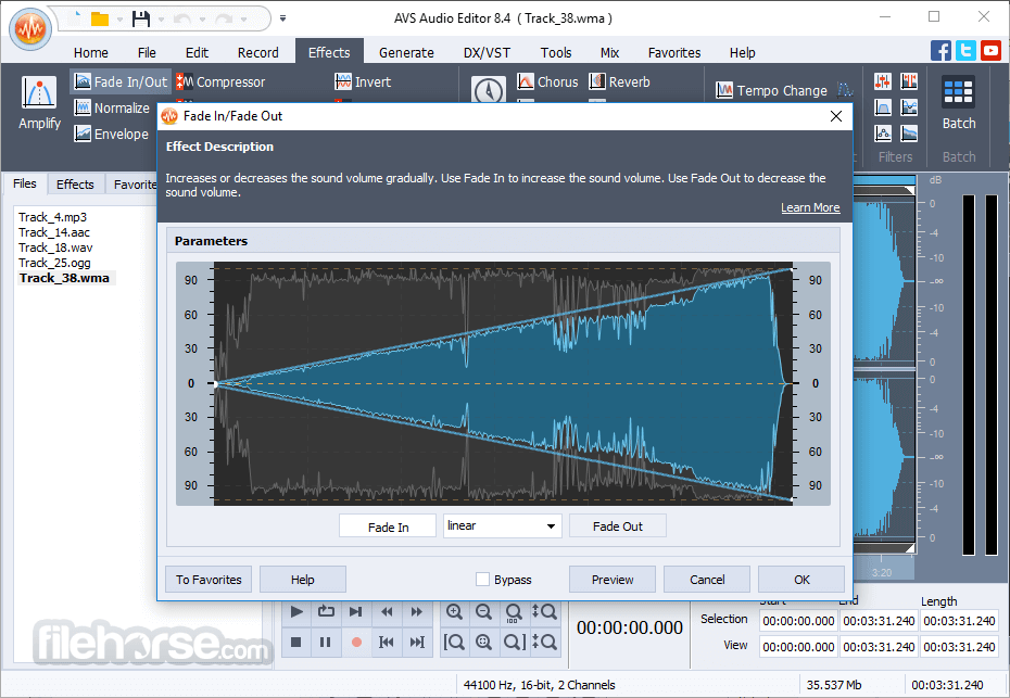 AVS Audio Editor 10.0.3.551 Captura de Pantalla 1