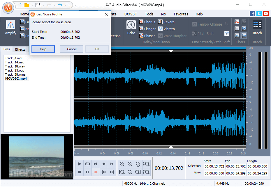 AVS Audio Editor 10.0.3.551 Captura de Pantalla 2