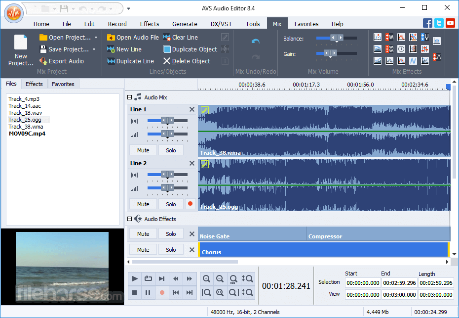 AVS Audio Editor 10.0.3.551 Captura de Pantalla 3