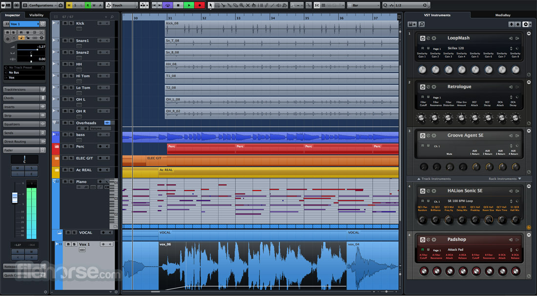 Cubase Pro 9.5.30 Download for Windows / Screenshots