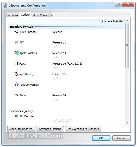 dBpowerAMP Music Converter 16.3 Captura de Pantalla 3