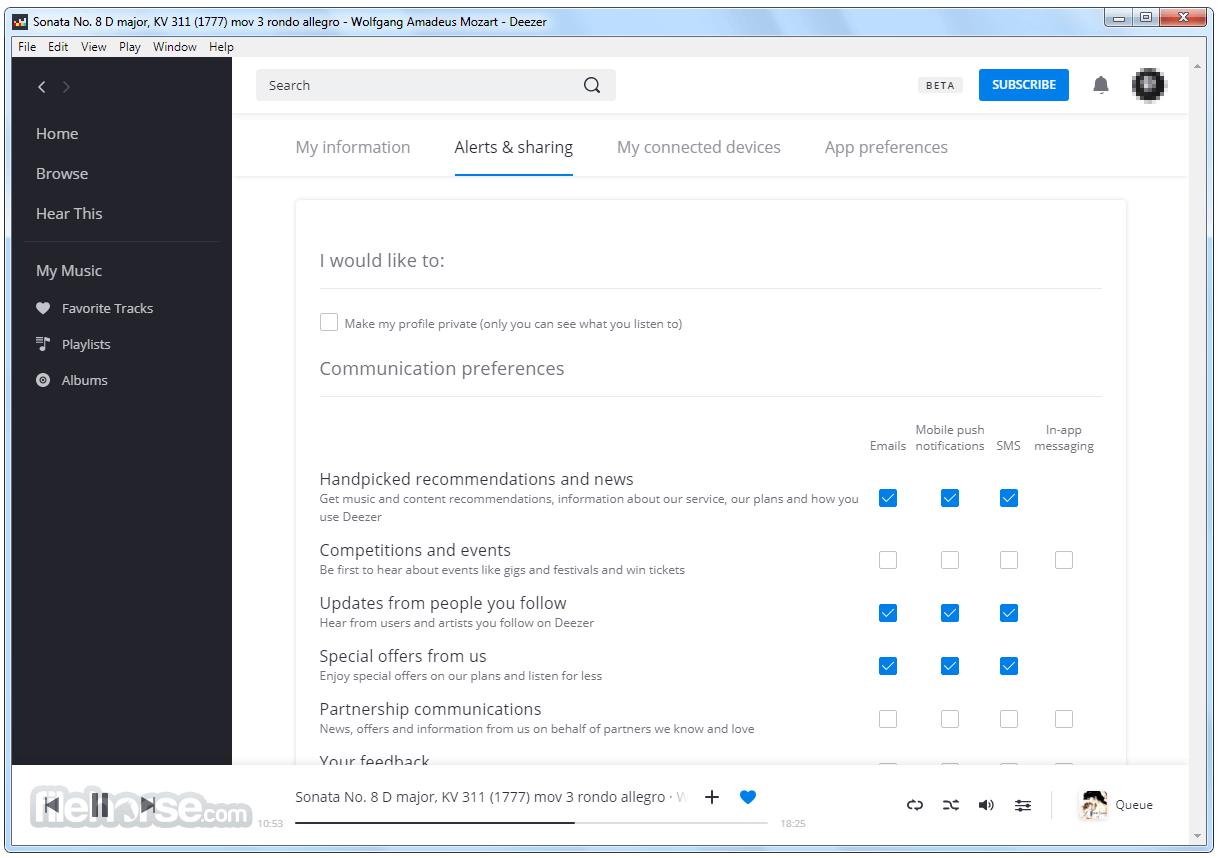 Deezer Desktop 4.34.10 Screenshot 5