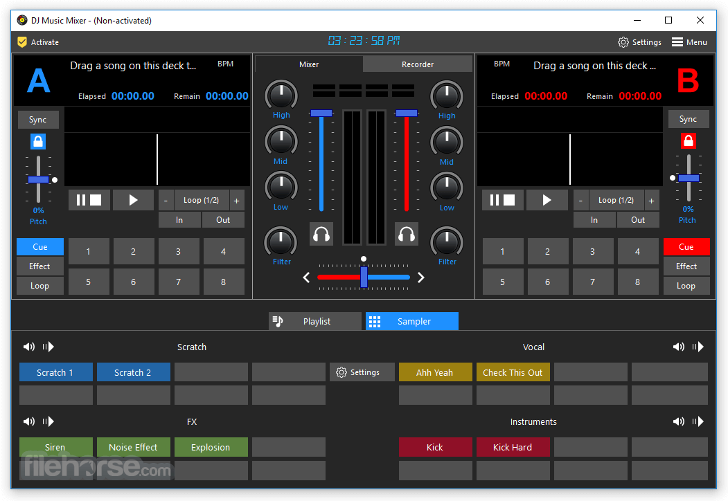 DJ Music Mixer 8.5 Download for Windows / Screenshots / FileHorse.com
