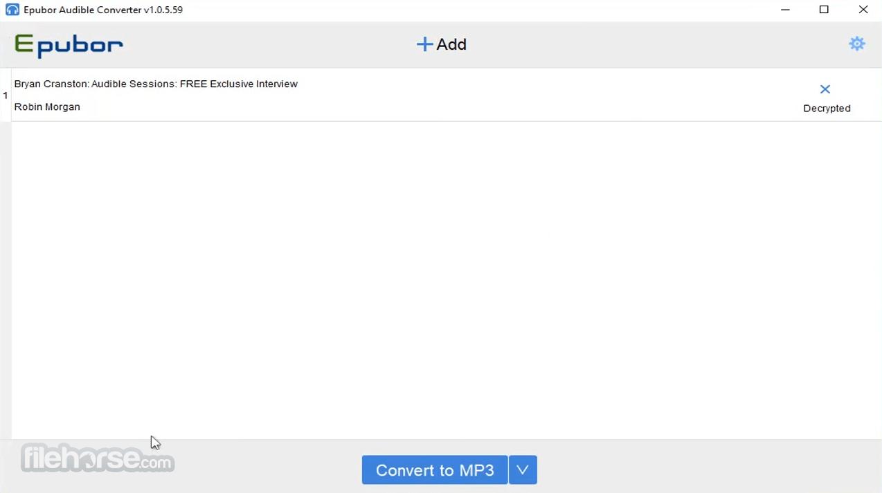 Epubor Audible Converter 1.0.6.65 Captura de Pantalla 3