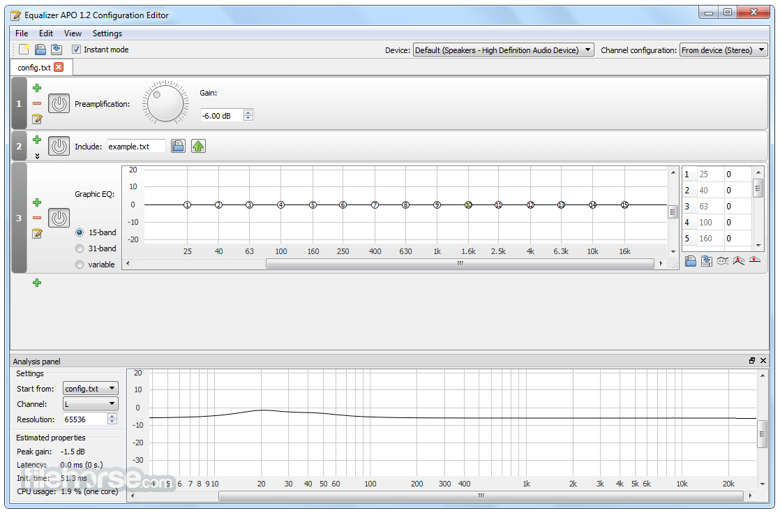 Equalizer APO 1.2 (32-bit) Screenshot 1