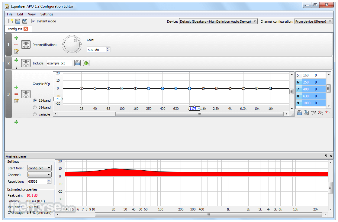 Equalizer APO 1.2 (32-bit) Screenshot 2