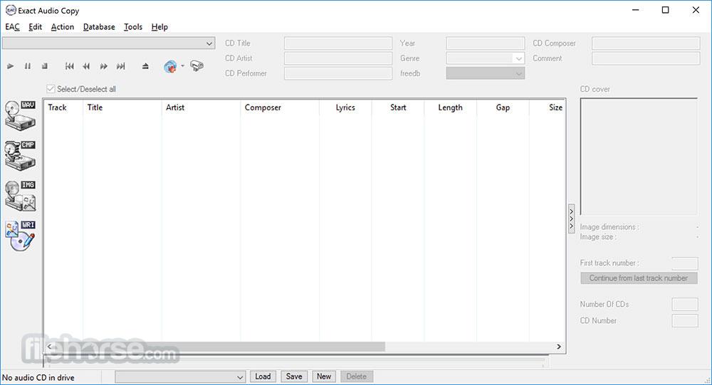 Exact Audio Copy 1.3 Captura de Pantalla 1