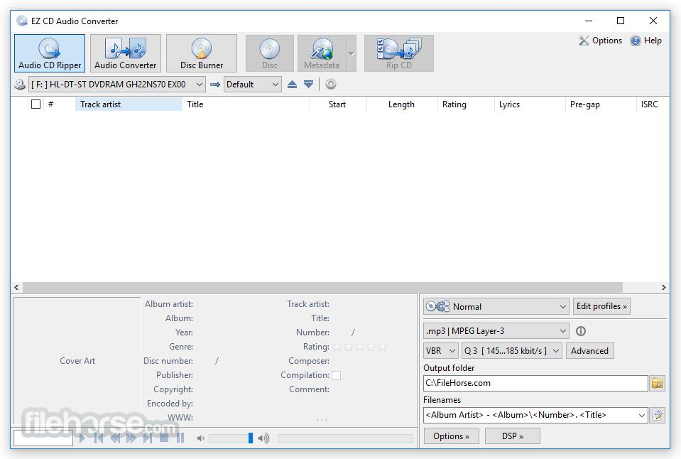 EZ CD Audio Converter 9.3.1.1 (32-bit) Captura de Pantalla 1