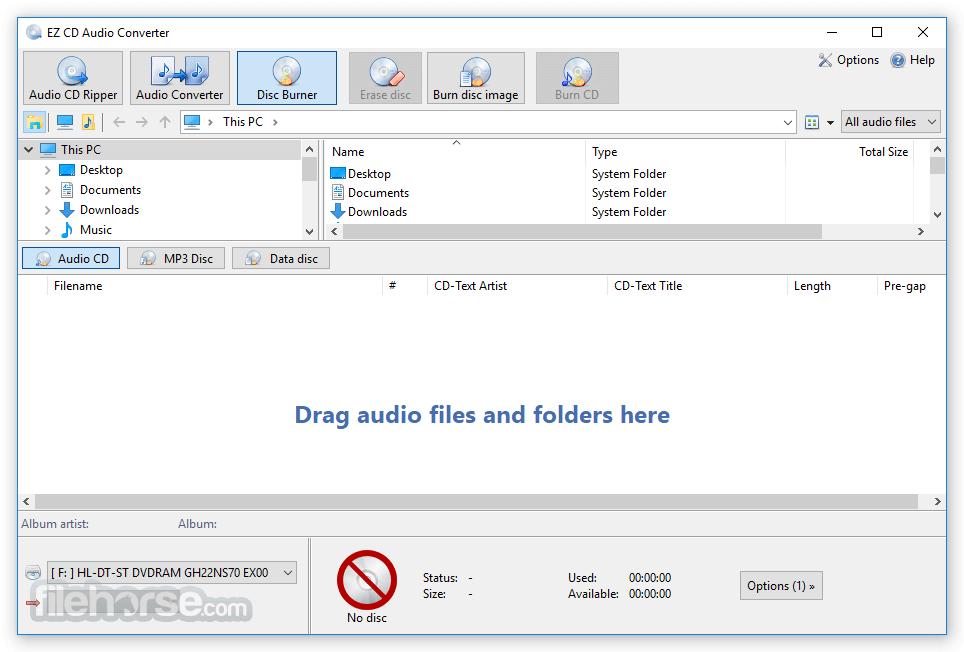 EZ CD Audio Converter 9.3.1.1 (32-bit) Captura de Pantalla 3