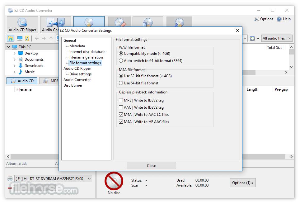 EZ CD Audio Converter 9.3.1.1 (32-bit) Captura de Pantalla 5