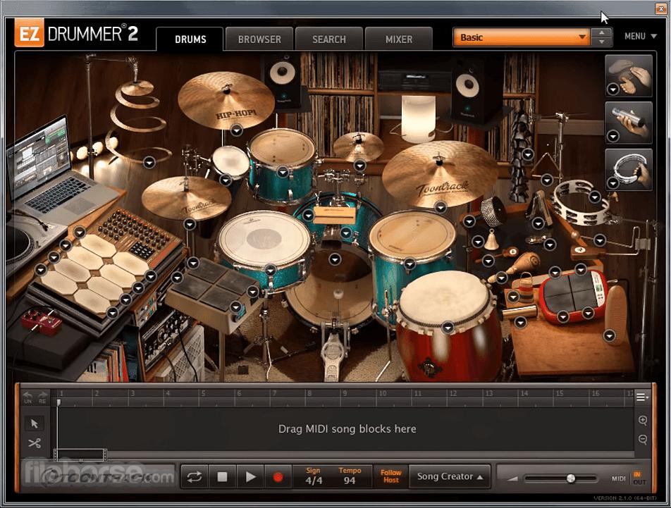 EZdrummer 2.1.8 Screenshot 1