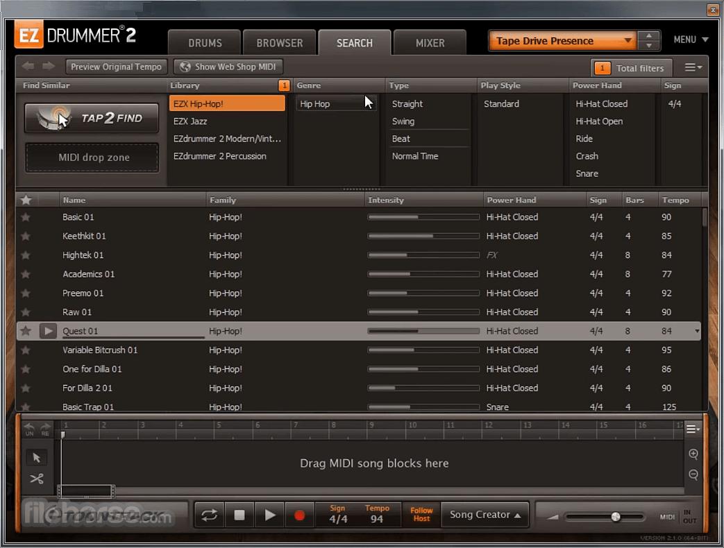 EZdrummer 2.1.8 Screenshot 4