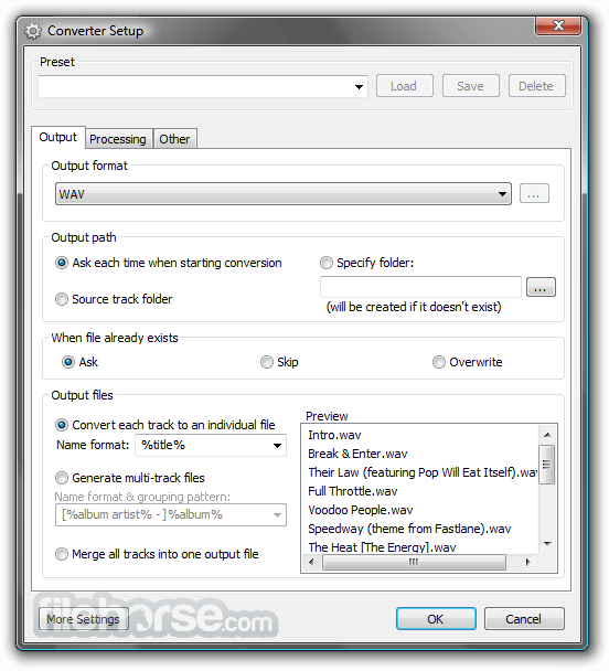 Foobar2000 1.5.5 Screenshot 4