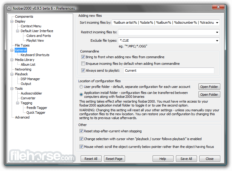 Foobar2000 1.3.17 Screenshot 5
