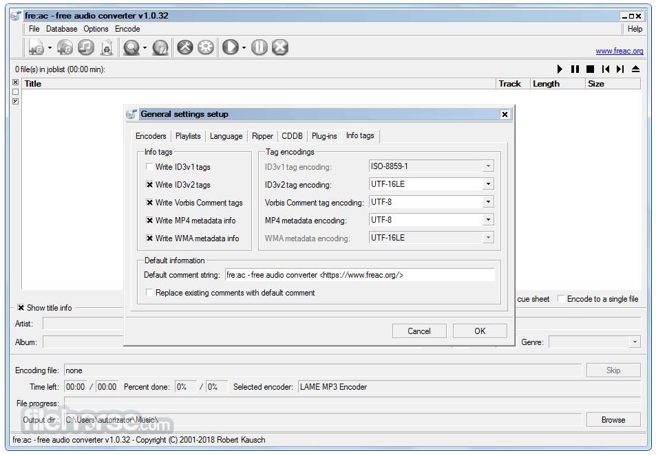 Fre:ac 1.1.4 Screenshot 4