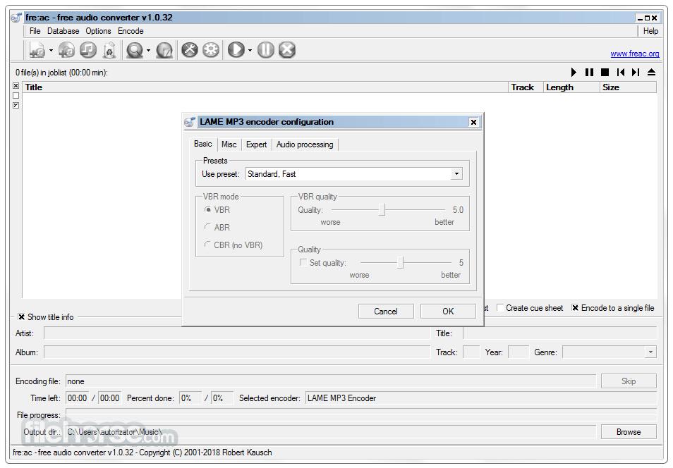 Fre:ac 1.1.4 Screenshot 5