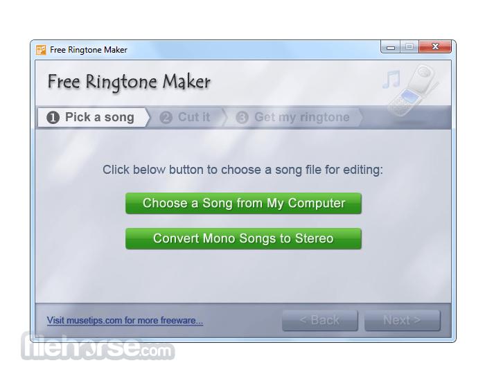 Free Ringtone Maker 2.5.0 Screenshot 1