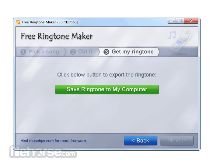 Free Ringtone Maker 2.5.0 Screenshot 4