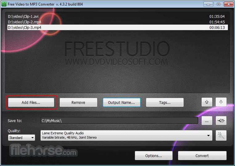 Free Video to MP3 Converter 5.1.6.215 Screenshot 2