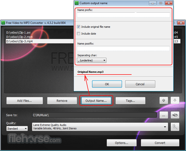 Free Video to MP3 Converter 5.1.6.215 Screenshot 3