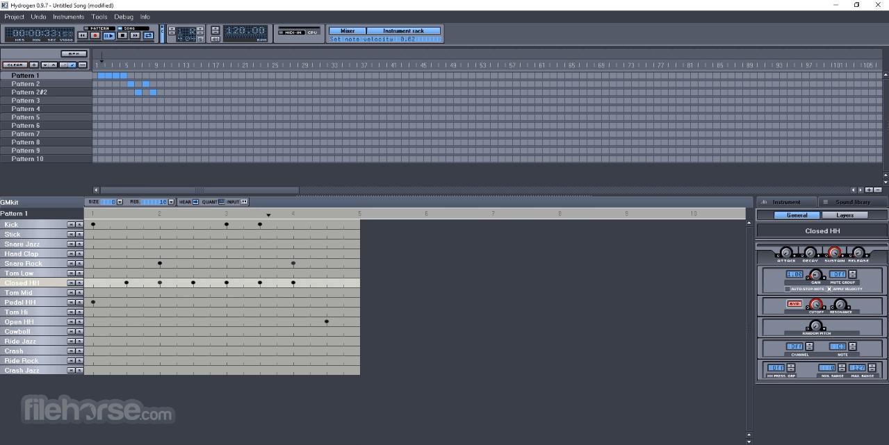 Hydrogen 1.0.1 (64-bit) Screenshot 1