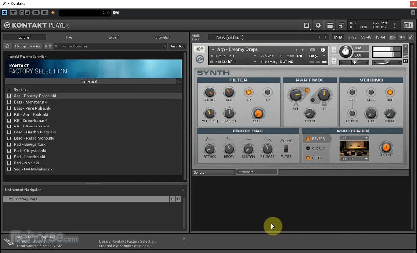 Kontakt Player 6.4.1 Screenshot 3