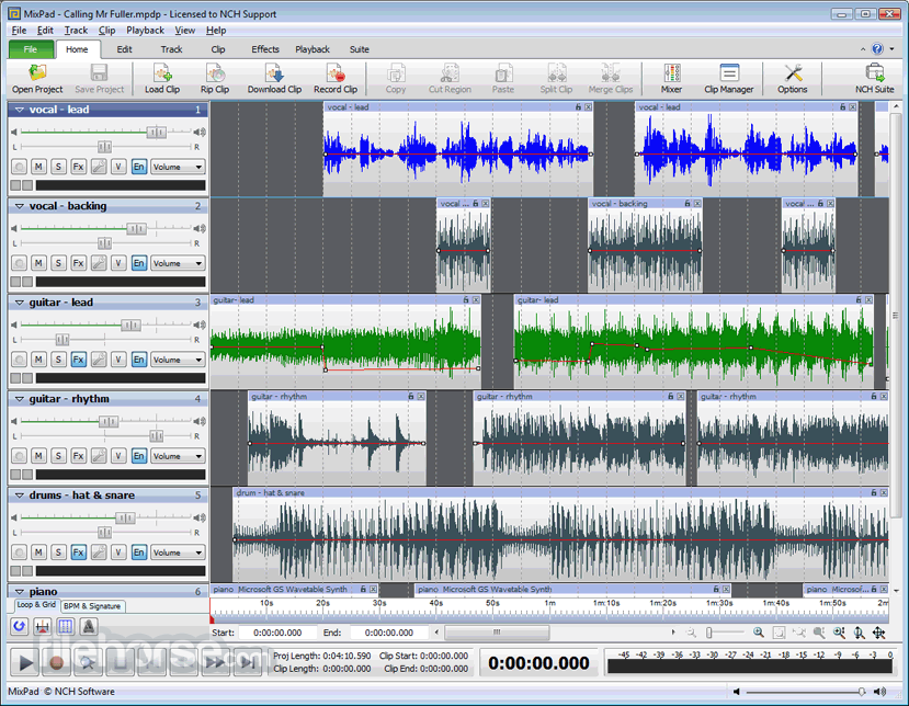 MixPad 5.10 Screenshot 1