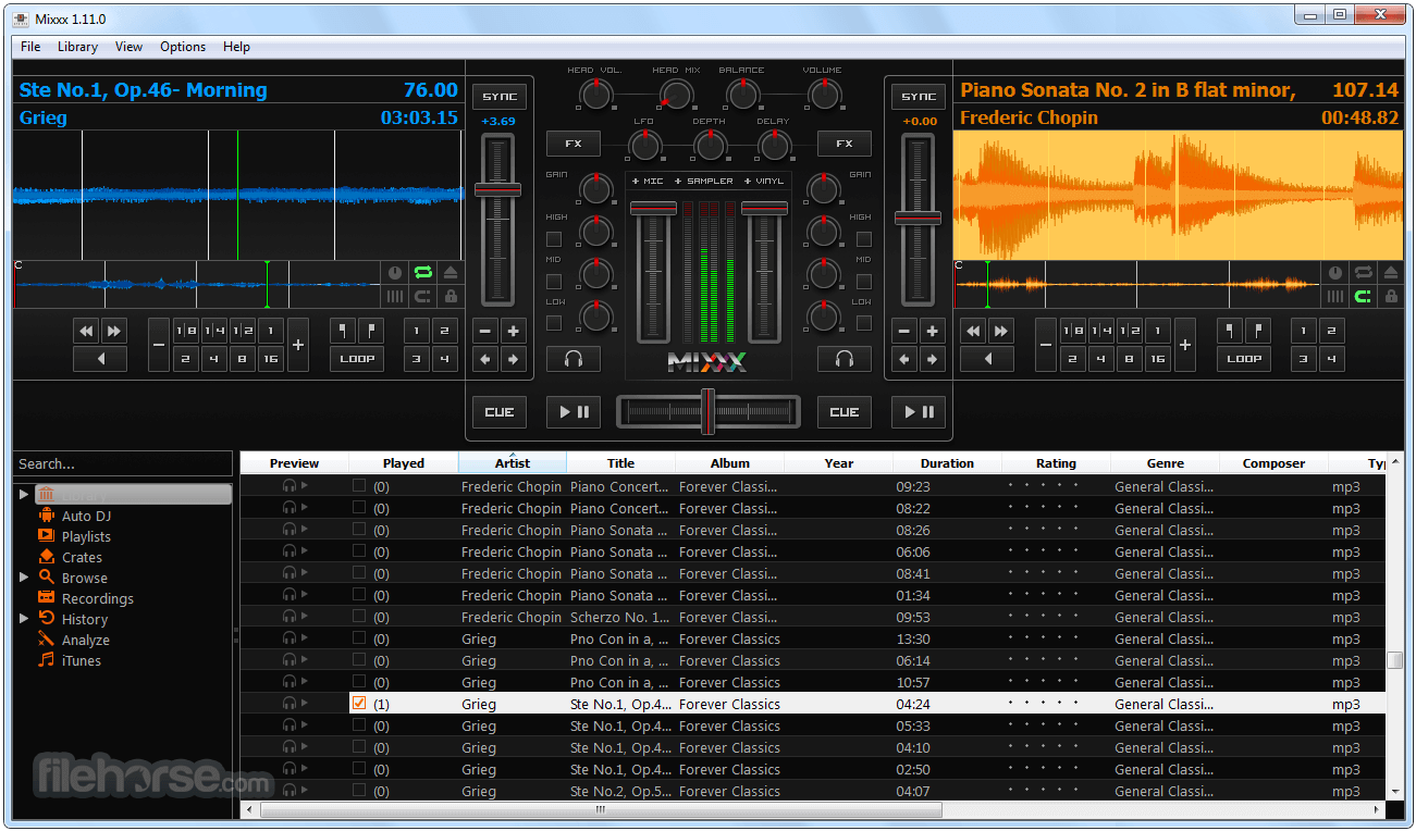 Mixxx 2.1.1 (64-bit) Screenshot 1