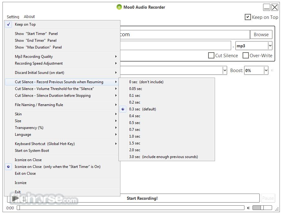Moo0 Voice Recorder 1.49 Screenshot 3