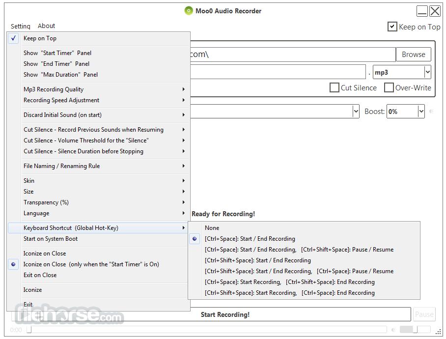 Moo0 Voice Recorder 1.49 Screenshot 4