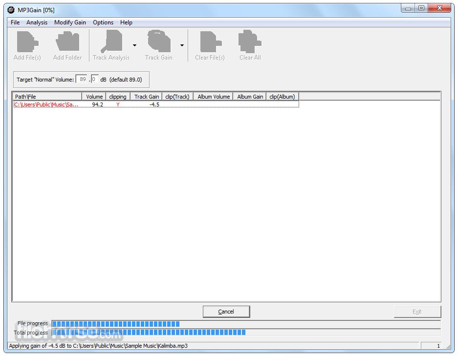 MP3Gain 1.3.4 Beta Screenshot 1