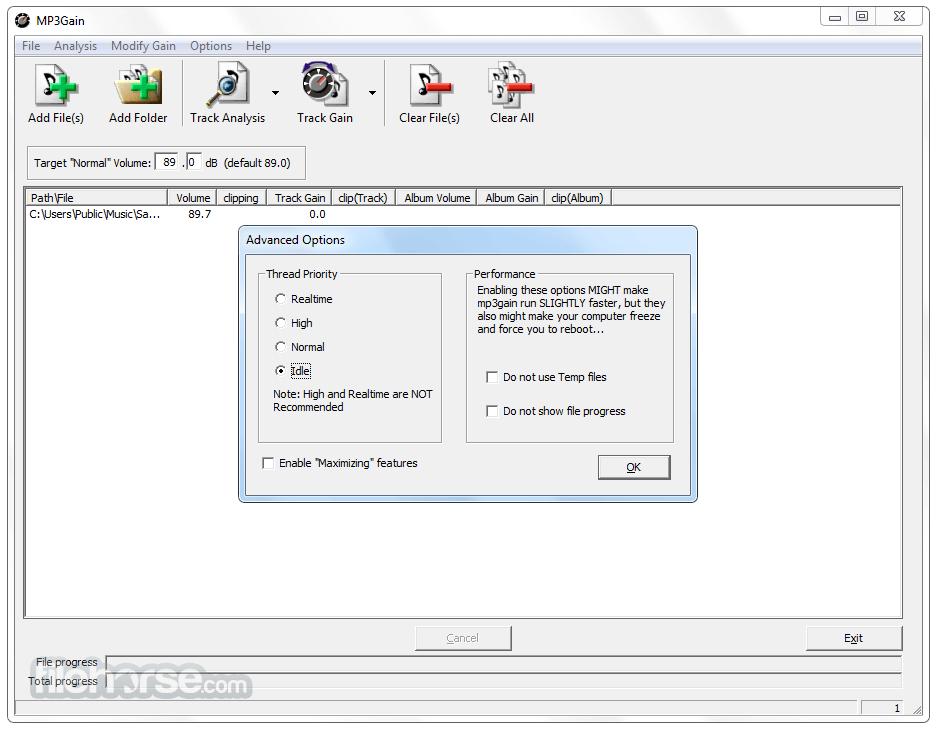 MP3Gain 1.3.4 Beta Screenshot 4