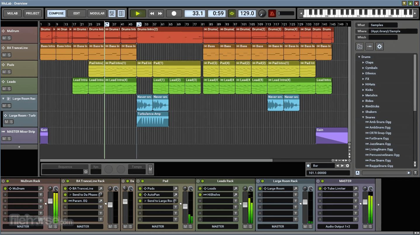 MuLab 8.7.6 (32-bit) Screenshot 1