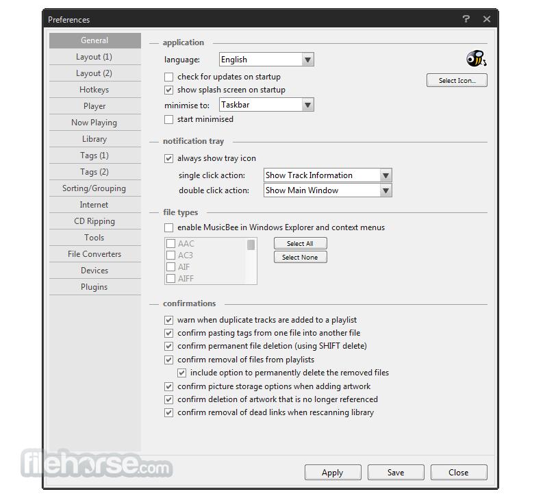 MusicBee 3.1.6590 Screenshot 5