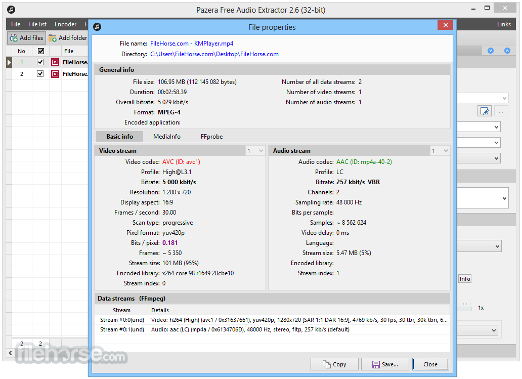 Pazera Free Audio Extractor 2.10 Captura de Pantalla 4