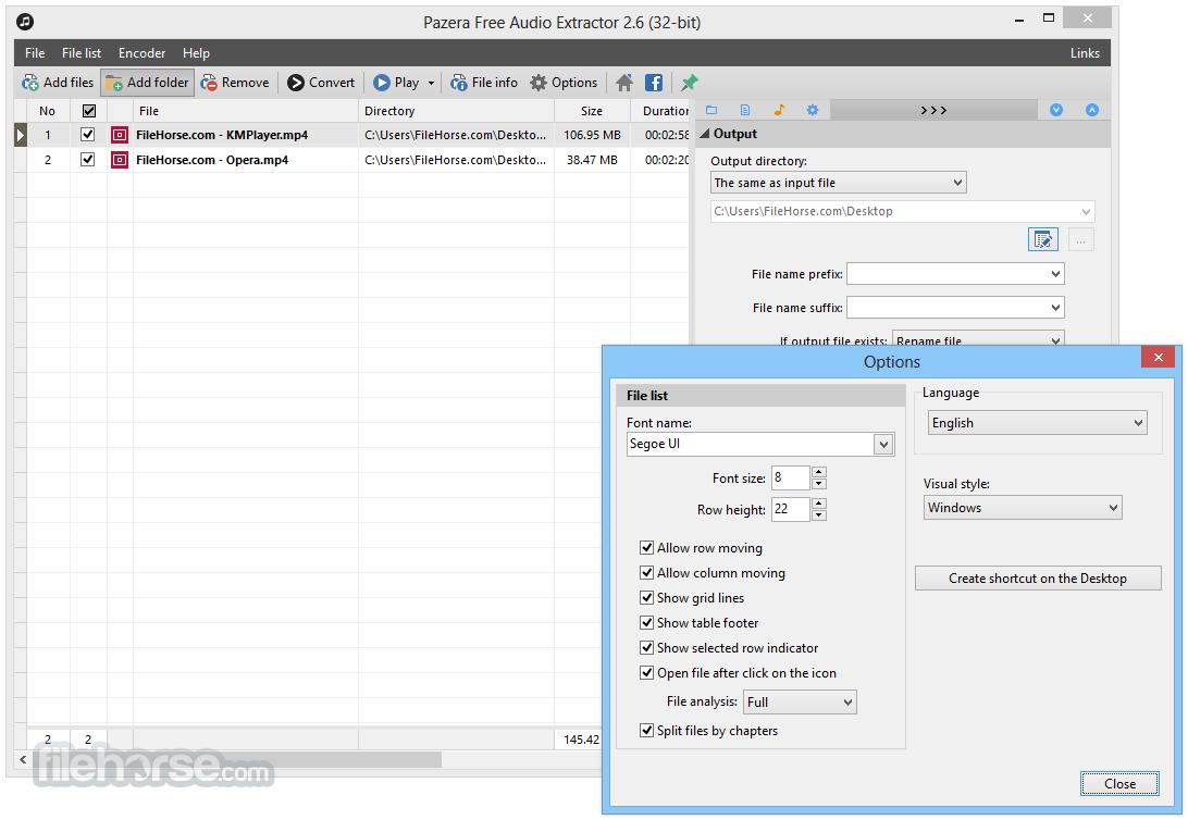 Pazera Free Audio Extractor 2.6 Screenshot 5