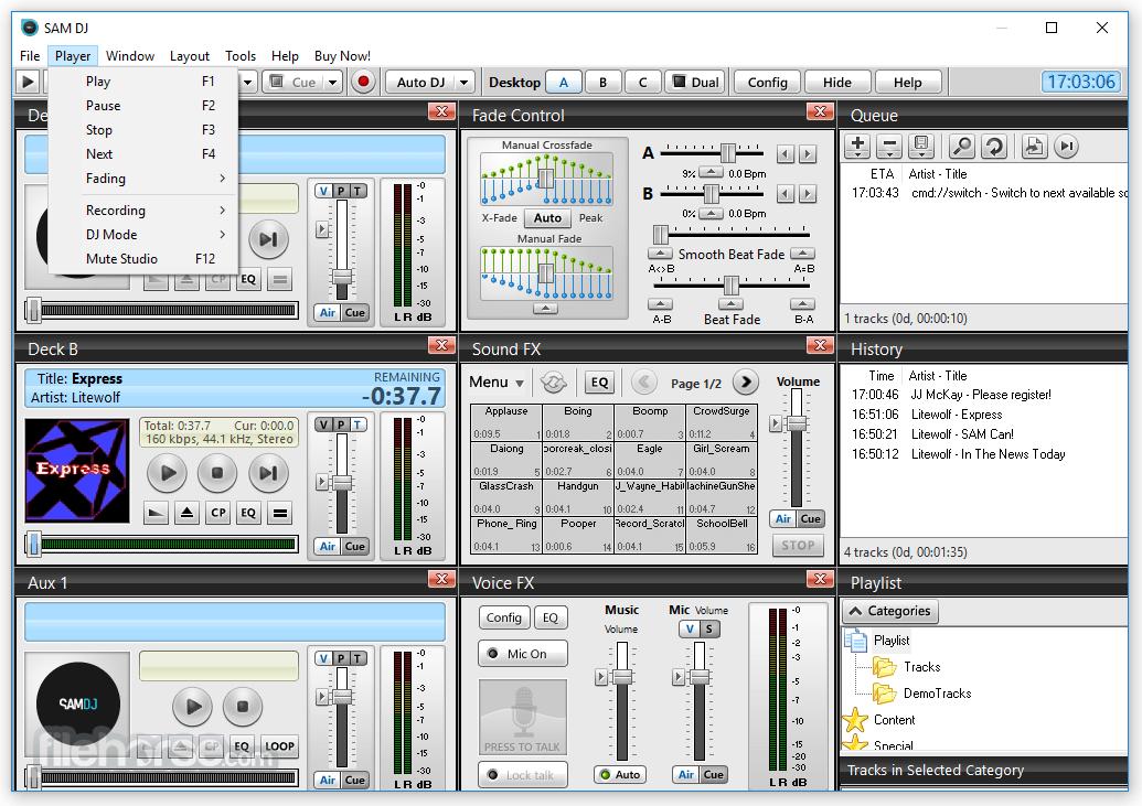 SAM DJ 2021.4 (64-bit) Captura de Pantalla 3