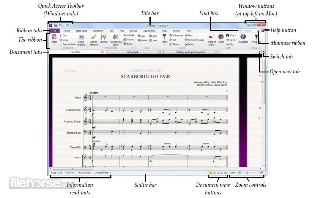 Sibelius 8.7.2 Screenshot 2