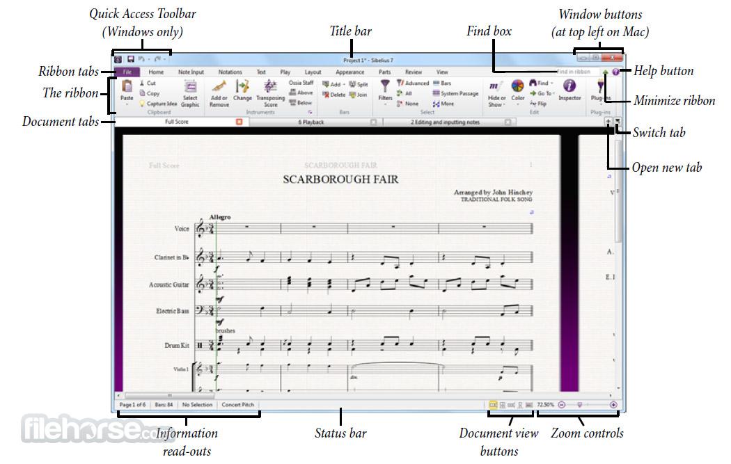 Sibelius 8.7.2 Captura de Pantalla 2