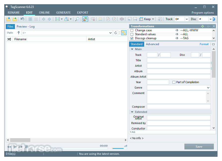 TagScanner 6.1.10 Screenshot 1