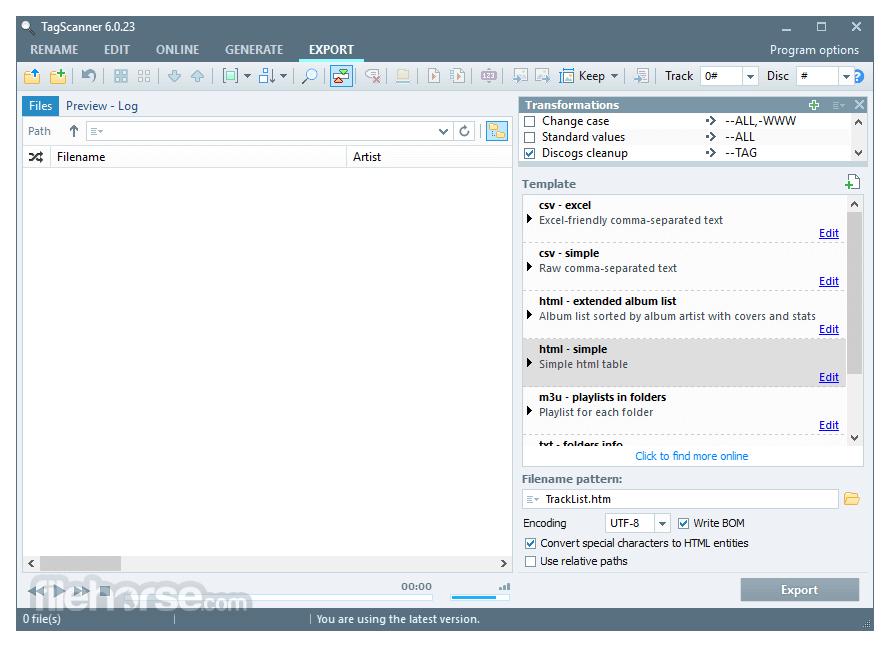 TagScanner 6.1.10 Screenshot 5