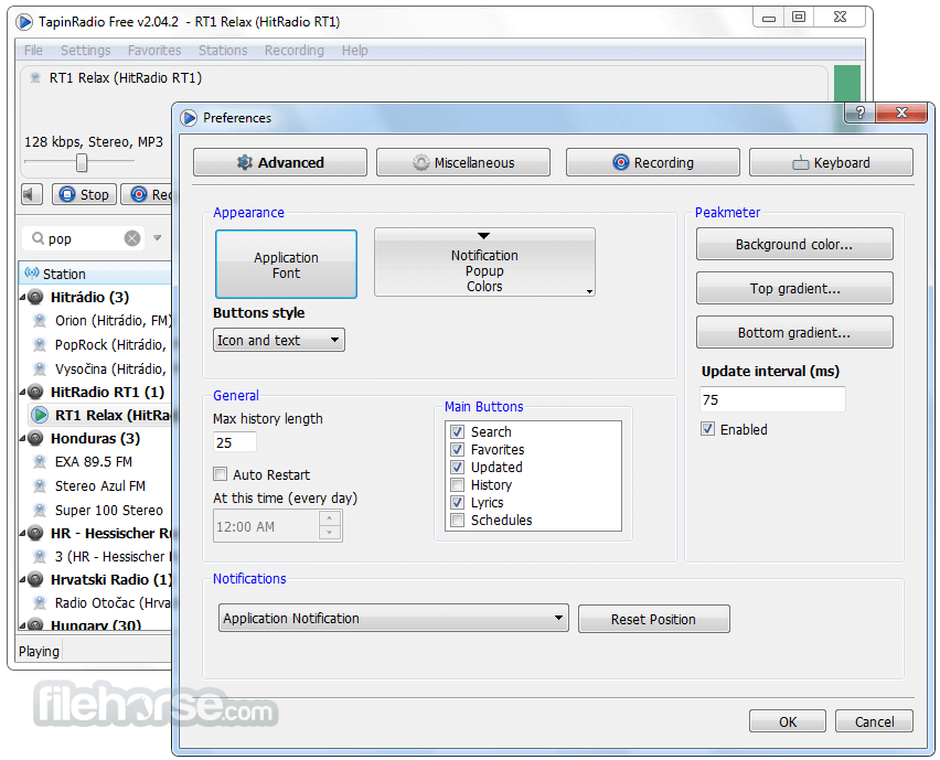 TapinRadio 2.10 (32-bit) Screenshot 4