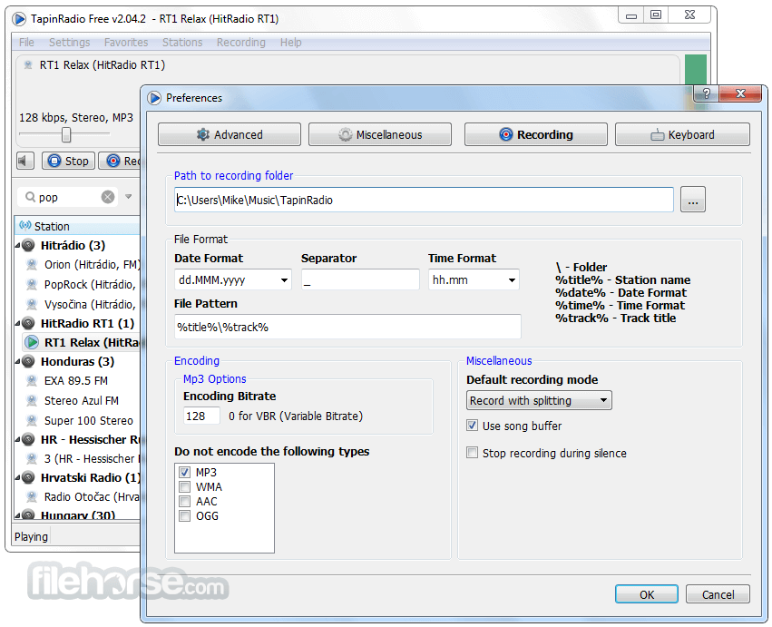 TapinRadio 2.10 (32-bit) Screenshot 5