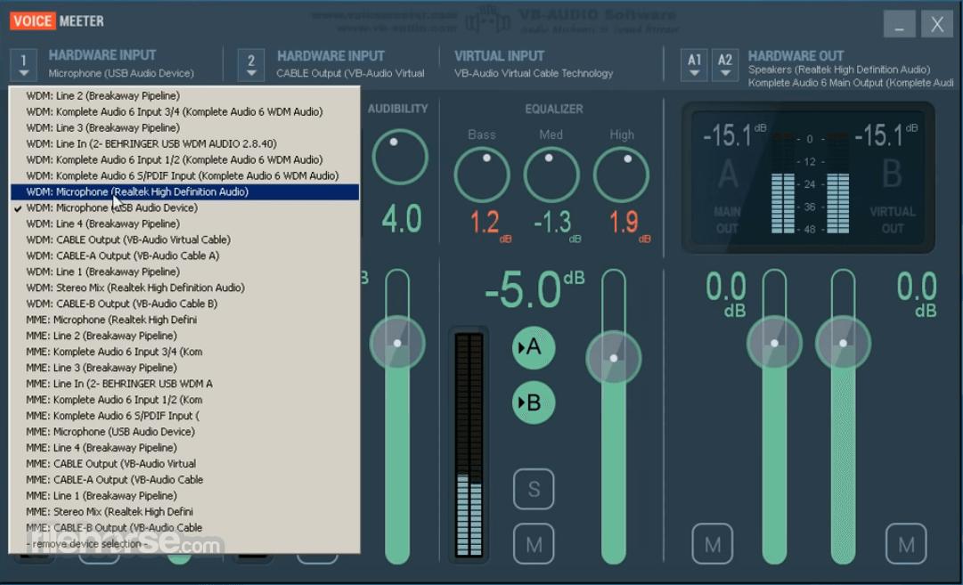 VoiceMeeter 1.0.7.4 Captura de Pantalla 2